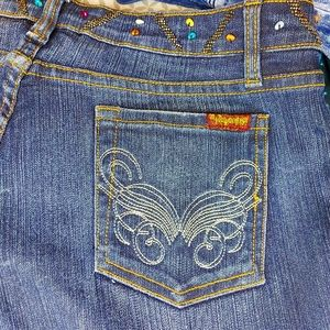 Seductions Beaded Boot Cut Jeans Size 11